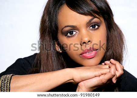 African American Beautiful Young Woman