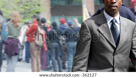 African american businessman on the street