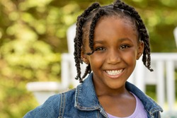 African American cute little girl