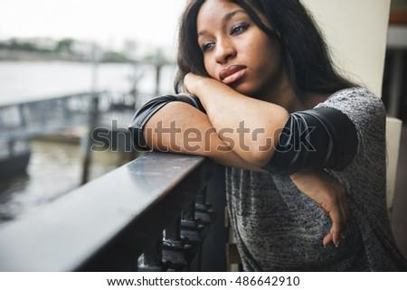 african american depressive sad ...