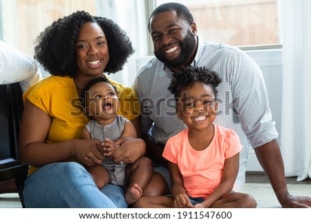 African American family at home