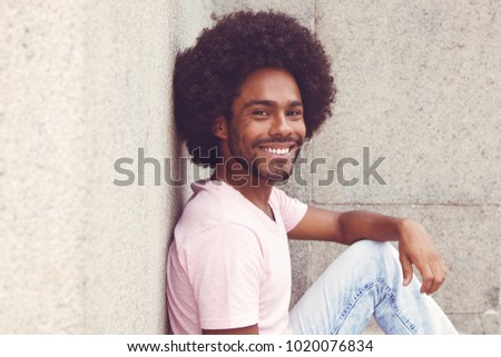 african american hipster man...