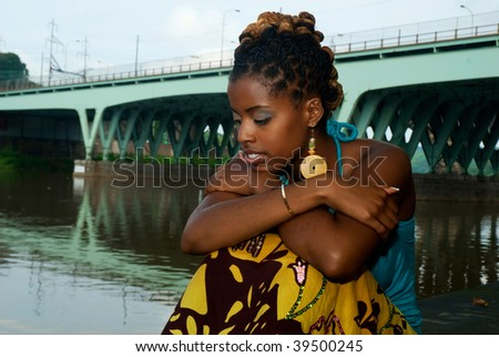 African American in deep thought