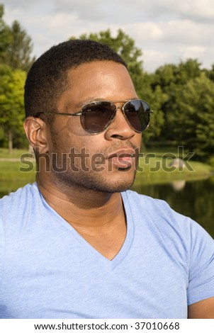 African American Male with Sunglasses
