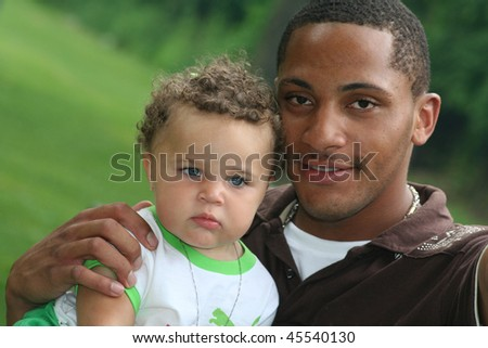 African American Man and Toddler