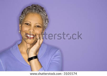 stock photo african american mature adult female smiling looking at viewer 3105574 young actresses turned sexy women 27 More young actresses that transformed ...