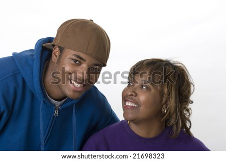 african american mom and son portrait