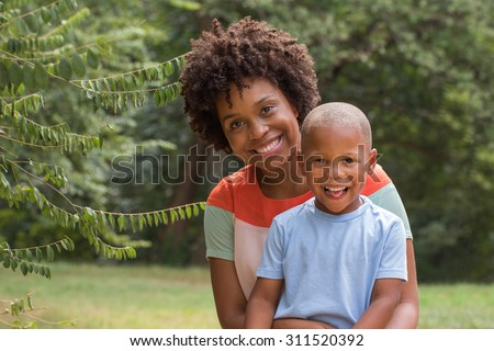 African American mom spending time with her son. Mother and son. Single parent. Family.