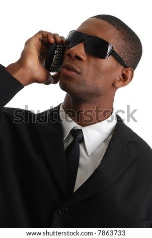 african american on the phone