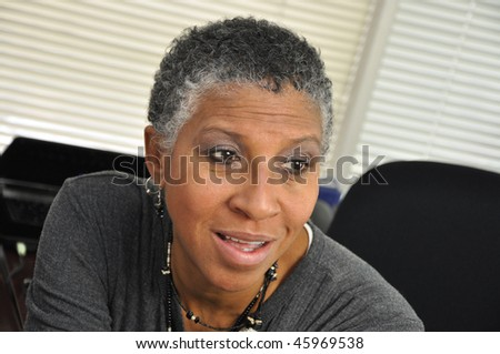 African American Professional Daydreaming