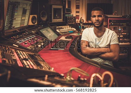 african american sound engineer ...