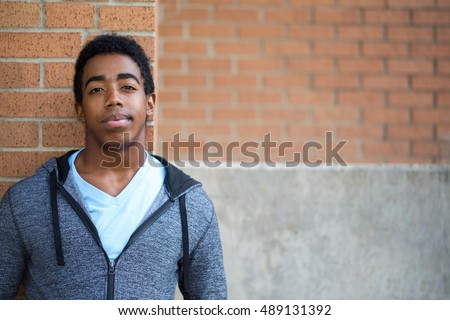 African American student having problems at school.