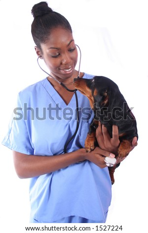 African American Vet and Dog