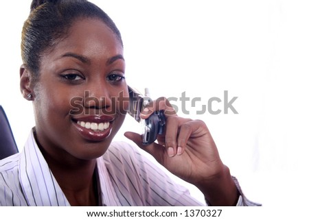 African American Woman on Phone