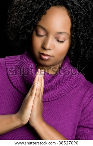 stock photo : African American Woman Praying
