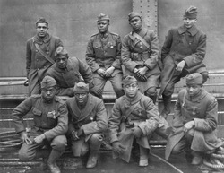 African American WW1 heroes with French medals, Croix de Guerre. 1919. They were awarded for gallantry in Action.