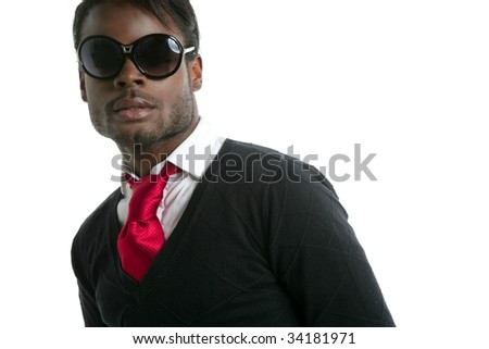 African american young handsome man portrait at studio