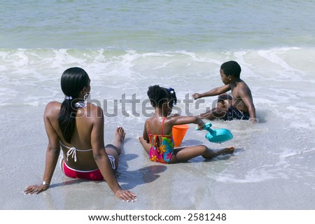 African Americans at the beach