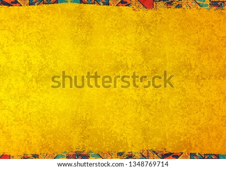 african background texture concept yellow gold colorful pattern mexico