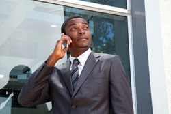 African business man on his cell phone