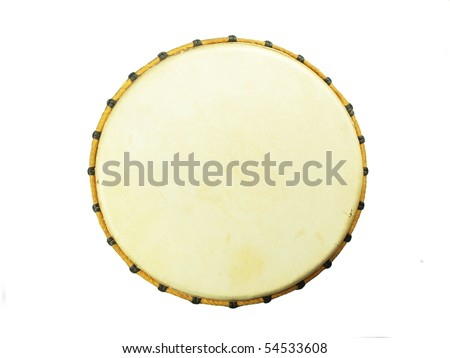 African djembe, top view