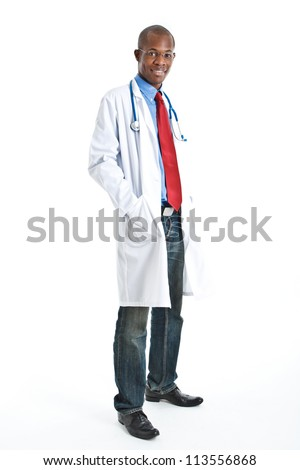 African doctor full length