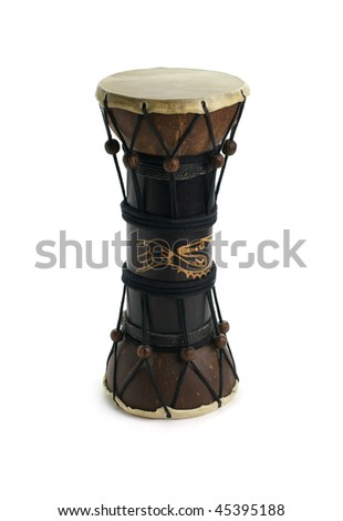 African drum. Isolated over white background