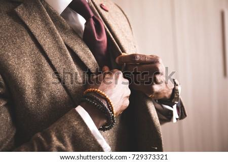 african elegant man
