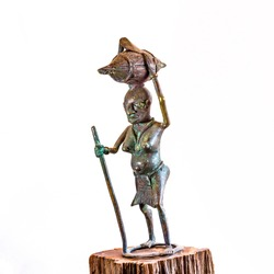 African ethnic bronze carving sculpture from IVORY COAST