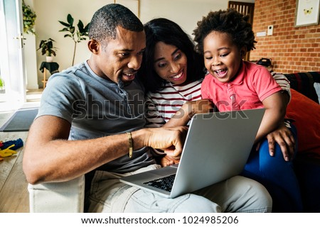 African family spending time together