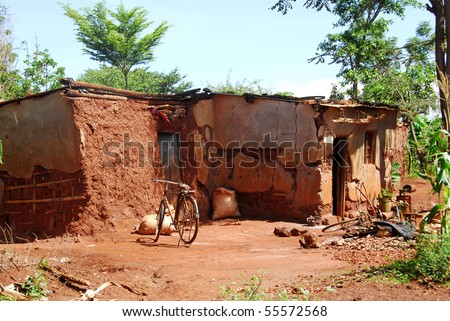 African house - stock photo