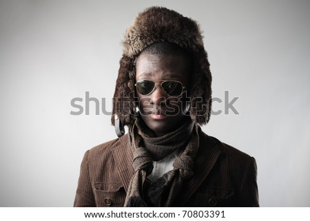 African man in fashion clothes