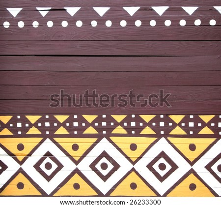 african motif painted wall