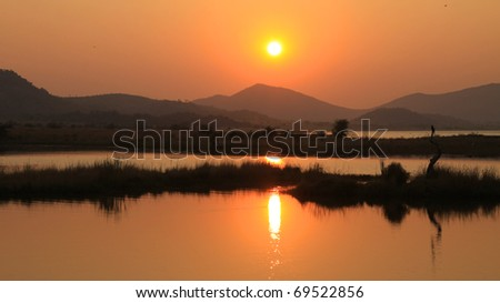 African national park at sunrise