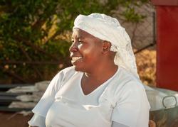 African street vendors, zezuru woman, is a tribe of Shona people from Zimbabwe and Botswana,