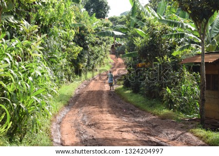 african unpaved road #1324204997