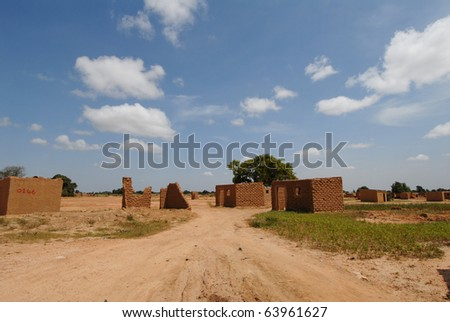 African village - stock photo