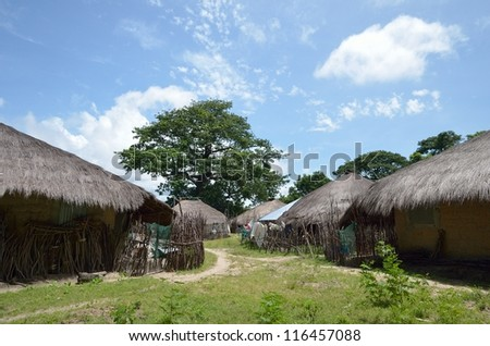 African village in Africa, Senegal