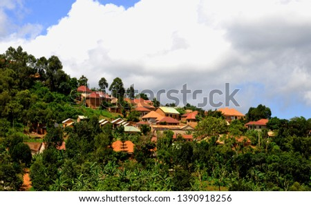 African Village Rural Houses ,(Rural settlement). #1390918256