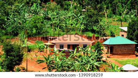 African Village Rural Houses ,(Rural settlement). #1390918259