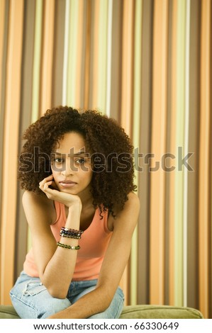 African woman sitting