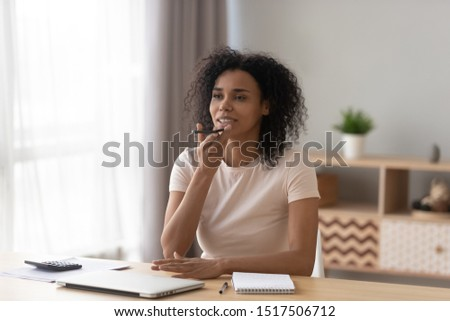African woman sitting at desk holding smartphone says to-do list speaks up ask virtual assistant mark on calendar important meeting place and time, using online translator, talk voice message concept