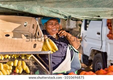 african woman street vendor
