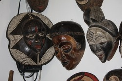 african wooden art, sculptures and masks