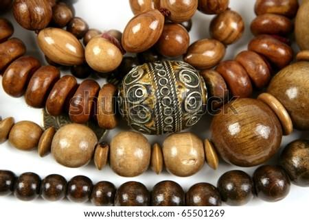 African wooden handcraft jewellery texture necklaces
