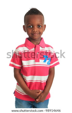 afro american beautiful black child who smiles isolated metisse hair curly teeth
