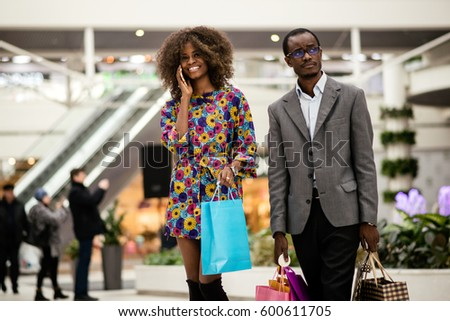 afro american woman and man...