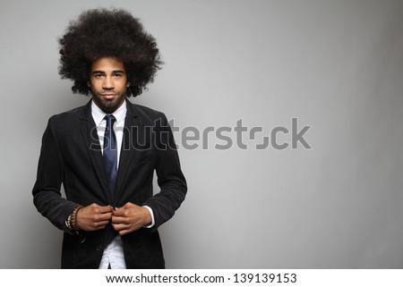 Afro business men posing - stock photo