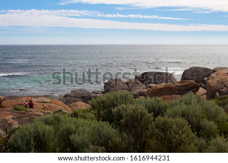 After a day of surfing heavy reef breaks, Redgate offers a nice easy beach break set among beautiful coastal dunes and ancient granite boulders not far from Margaret River, Western Australia.
