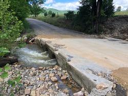 After a washout - Taylor Hollow Road - Blacksburg, VA